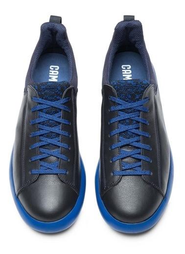 Camper %100 Deri Bağcıklı Ayakkabı Lacivert